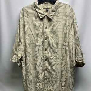 Men's Tommy Bahama Button Down 100% Silk XXL Shirt
